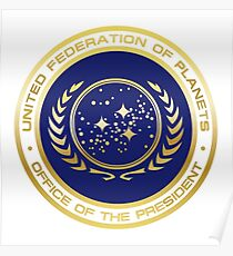 United Federation of Planets Presidential Seal Poster