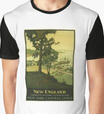 Vintage Travel Poster – New England	 Graphic T-Shirt