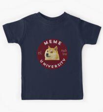 meme university est. much time all hail doge Kids Clothes