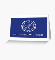 United Federation of Planets Flag Greeting Card