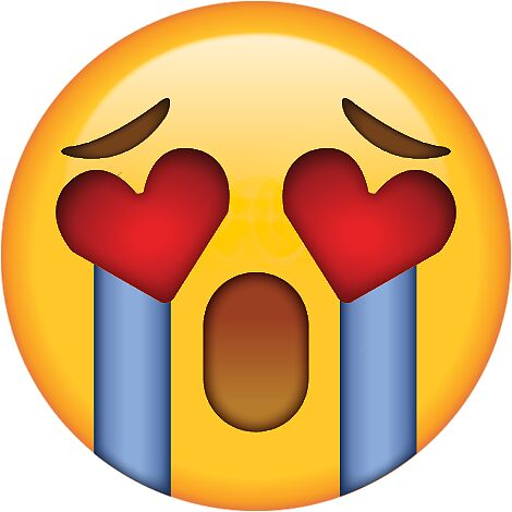 """Crying Heart Eyes Secret Emoji 