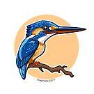Kingfisher bird by CraigWoida