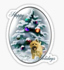 Cairn Terrier Christmas Gifts Sticker