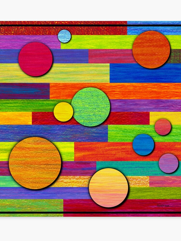 Banded Color Pencil Abstract Art Canvas Print