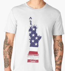 Lady Liberty in Red, White and Blue Men's Premium T-Shirt