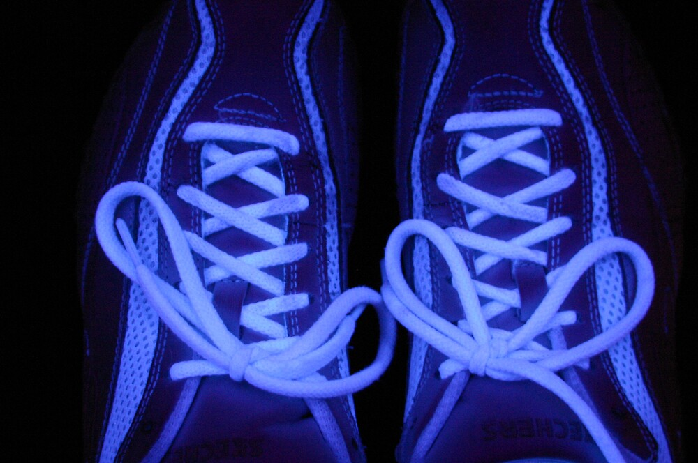 Glowing sneakers by abryant