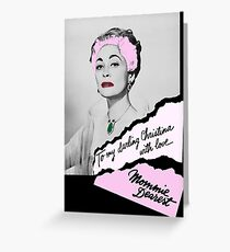 Mommie Dearest Distressed Poster Greeting Card