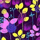 Foliage Lilac & Lemon [iPhone / iPod Case and Print] by Didi Bingham