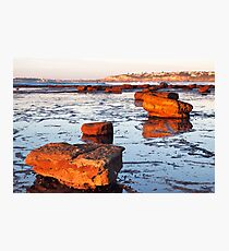 Rock Shelf at Long Reef 3 Photographic Print