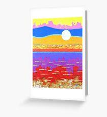 Fauvist Sunset Greeting Card