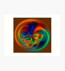 Fiery Circle Art Print