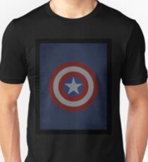 Captain America Shield Word Art T-Shirt