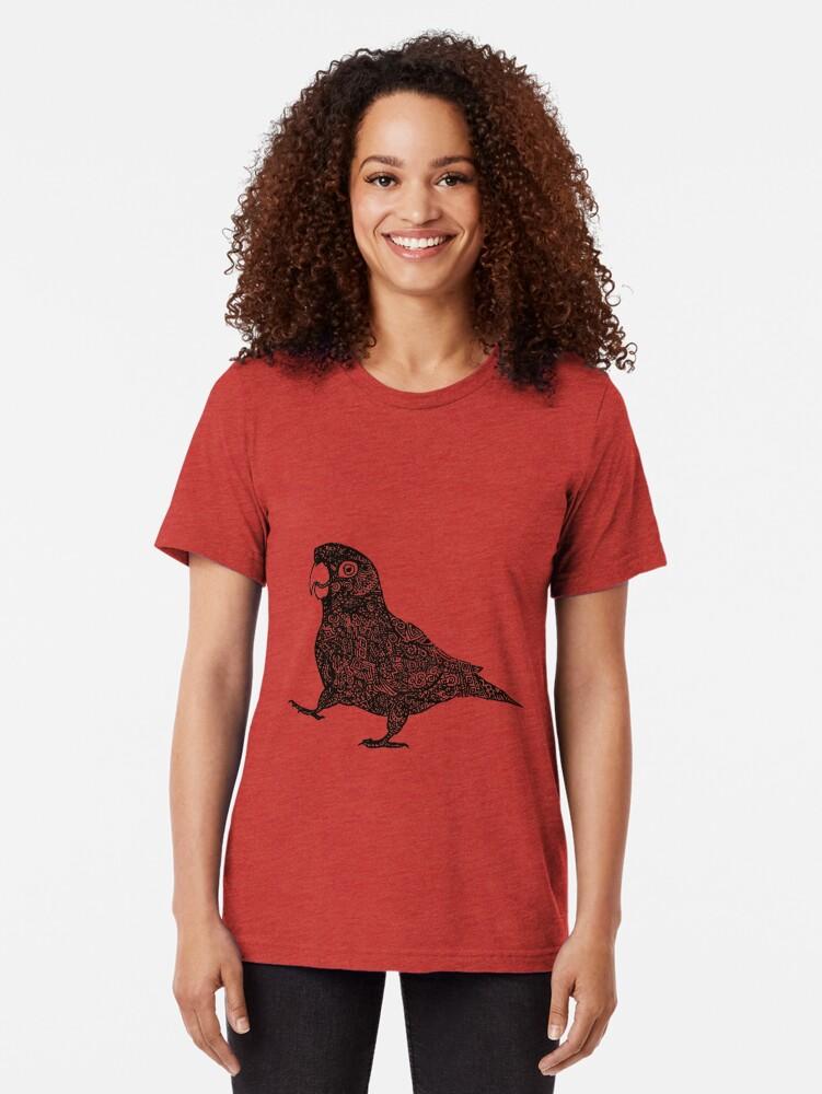 Alternative Ansicht von Komplex Papagei Vintage T-Shirt