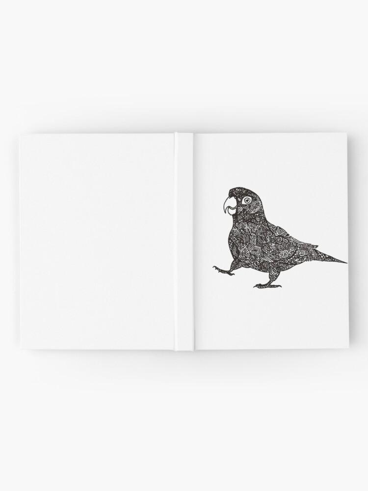 Alternative Ansicht von Komplex Papagei Notizbuch