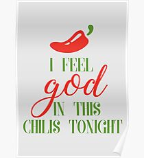 The Office | Pam Beesly | I Feel God In this Chili's Tonight Poster