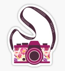 Watercolor floral camera Sticker