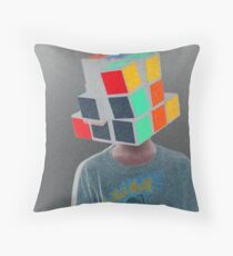Rubix head Throw Pillow
