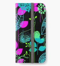 Foliage Fuchsia & Teal [iPhone / iPod Case and Print] iPhone Wallet