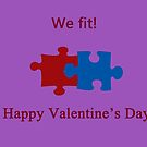 We Fit (Jigsaw Valentines) by CreativeEm