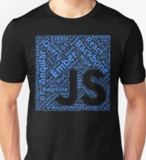 Original Blue JavaScript Framework Programming T-Shirt T-Shirt