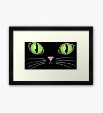 Glowing Cat Eyes Kitty Face Framed Print
