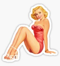 Pegatina Pin Up Girl
