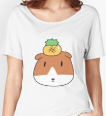 Pineapple Guinea Pig Face Women's Relaxed Fit T-Shirt