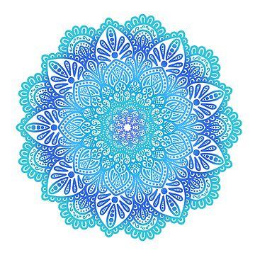 Mandala azul de NicoleHarvey