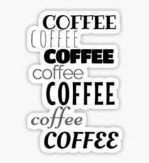 coffee design typography Sticker