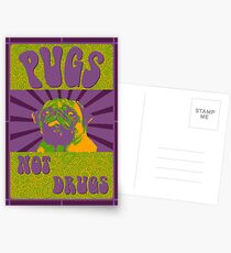 Pugs Not Drugs Postcards