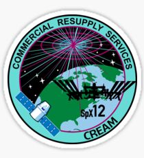 NASA/SpaceX Commercial Resupply Services CRS-12 (SpX-12) Mission Patch Sticker