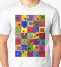 Checkered, Abstract Art, colored pencil Unisex T-Shirt