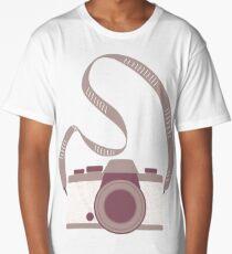 Squiggle pattern camera Long T-Shirt