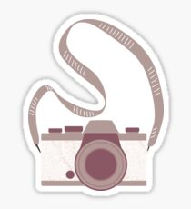 Squiggle pattern camera Sticker