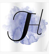 splash monogram - h Poster