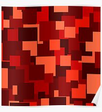 Red squares Poster