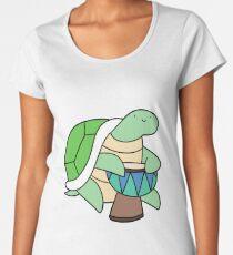 Turtle Playing Djembe Women's Premium T-Shirt