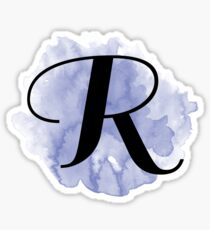 splash monogram - r Sticker