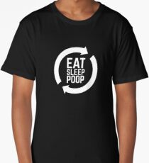 Eat Sleep Poop Repeat Baby Shirt - Now in White Ink! Long T-Shirt