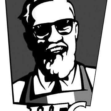 UFC McGroger Parody Monocrome by kalosdesign