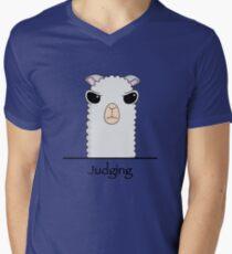 Beurteilung von Alpaka T-Shirt mit V-Ausschnitt für Männer