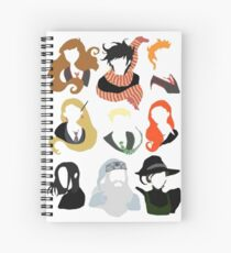 Minimalist Characters  Spiral Notebook