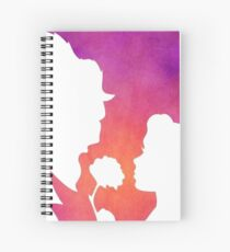Beauty and the Beast Colorful Silhouette Spiral Notebook