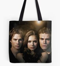 Elena, Damon and Stefan - The Vampire Diaries - Season 2 - Promotional Poster  Tote Bag