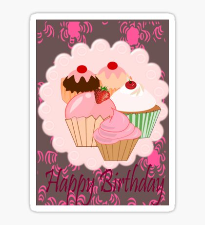 Cup Cakes (4759  Views) Sticker
