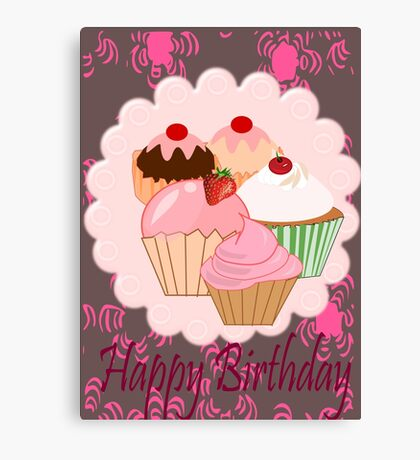 Cup Cakes (4759  Views) Canvas Print