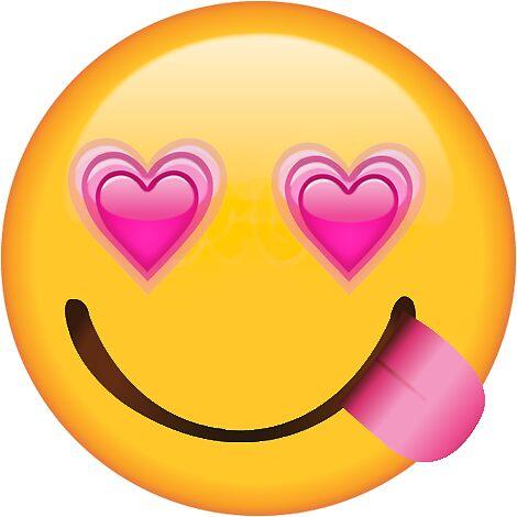 Pink heart eyes yum secret emoji funny internet meme by secret emojis
