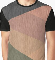 Green , grey , beige ,brown , black , abstract Graphic T-Shirt