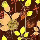 Foliage Copper & Bronze [iPhone / iPod Case and Print] by Didi Bingham