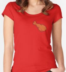 chicken wing Women's Fitted Scoop T-Shirt